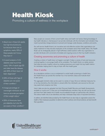 Health Kiosk - UHC Tools