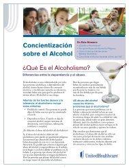 Concientización sobre el Alcohol ¿Qué Es el ... - UHC Tools