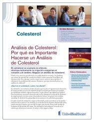 Colesterol Análisis de Colesterol: Por qué es ... - UHC Tools