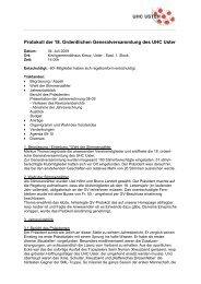 Protokoll der ordentlichen GV vom 04. Juli 2009 (PDF) - UHC Uster