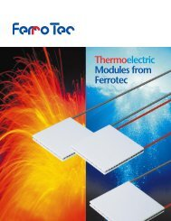 They All Work Better with Ferrotec Thermoelectric Modules