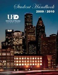 2009-2010 Student Handbook - the University of Houston-Downtown!