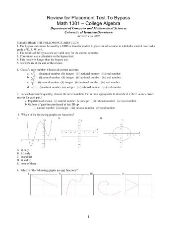 Placement Test Study Guide - goodwin.edu