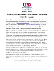 Procedure for Distance Education Students Requesting Disability ...