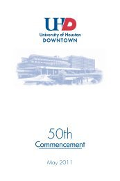 UHD 50th Commencement Program - the University of Houston ...