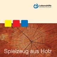 Katalog Holzspielzeug - Lebenshilfe Werkstätten Forchheim