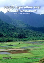 Pacific Agriculture and Natural Resources - University of Hawaii at Hilo