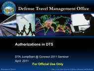 DTS Authorizations - DTMO