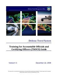 Training for Accountable Officials and Certifying Officers ... - DTMO