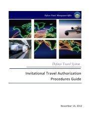 Invitational Travel Authorization Guide - DTMO