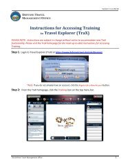 Instructions for Accessing Training in Travel Explorer (TraX)