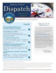 Defense Travel Dispatch - Summer 2011 - DTMO