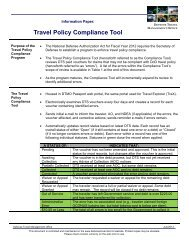 Travel Policy Compliance Tool Information Paper - DTMO