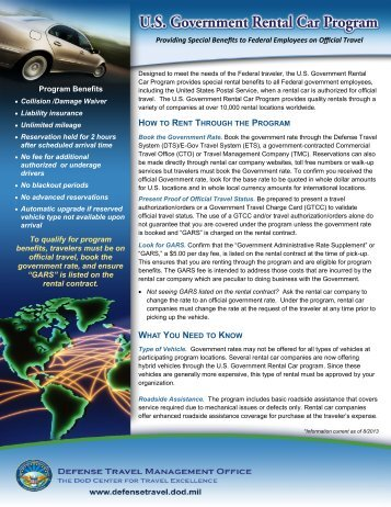 us government rental car and truck programs - DTMO