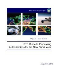 DTS Guide to Processing Authorizations for the New Fiscal ... - DTMO