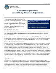 Understanding Overseas Cost of Living Allowance ... - DTMO