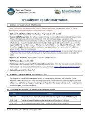 R9 Software Update Information