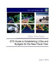 DTS Guide to Establishing LOAs and Budgets for the New ... - DTMO