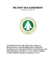 Military Bus Agreement