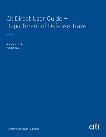 CitiDirect User Guide