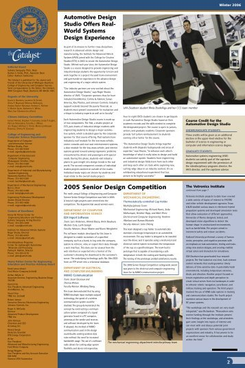 Catalyst Newsletter, Winter 2006 - University of Michigan - Dearborn ...