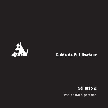 Stiletto 2 Guide de l'utilisateur - SiriusXM Canada