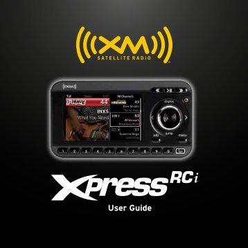 User Guide - SiriusXM Canada