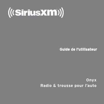 Guide de l'utilisateur - SiriusXM Canada