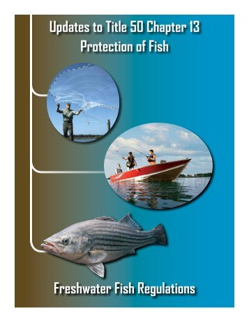 Freshwater Fish Regulations - South Carolina Department of Natural ...