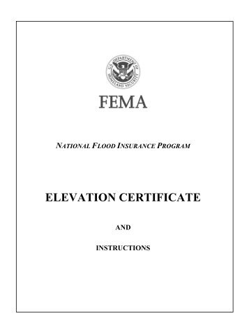 Elevation Certificate - The Association of State Floodplain Managers