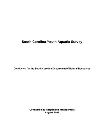 SC Youth Aquatic Survey - South Carolina Department of Natural ...
