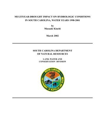 Multiyear-Drought Impact on Hydrologic Conditions in SC Water ...