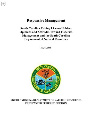 Responsive Mgmt Fisheries Survey - South Carolina Department of ...