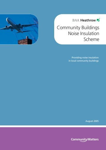 Community Buildings Noise Insulation Scheme - Heathrow Airport