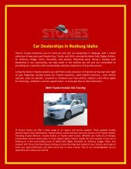 Car Dealerships in Rexburg Idaho