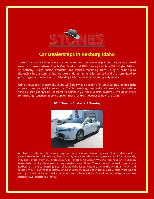 Used Car Dealerships Idaho Falls >> Car Dealerships In Rexburg Idaho