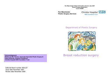 Breast reduction surgery - UHSM