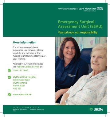 SM113 ESAU leaflet.pdf - UHSM