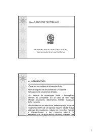 Tema 9: ESPACIOS VECTORIALES 1.- INTRODUCCIÓN. Espacios ...