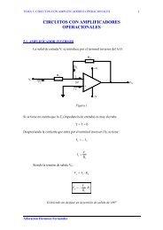 Tema 5: Circuitos con amplificadores operacionales