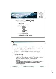 Introducción a xHTML y CSS XHTML - Universidad de Huelva