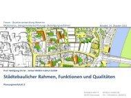 Städtebaulicher Rahmen, Funktionen und Qualitäten - Urban Index ...