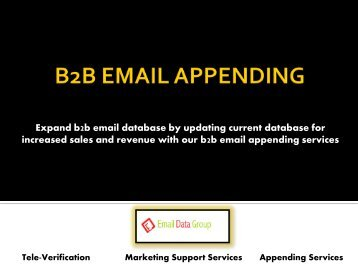 Get Potential Prospects Through B2B Email Appending