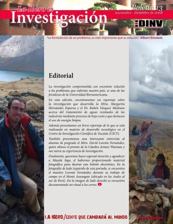 Boletín 13 - Investigadores - Universidad Iberoamericana