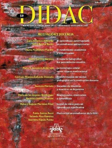 Didac 59: Motivación y docencia - Universidad Iberoamericana