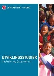 UTVIKLINGSSTUDIER - Universitetet i Agder