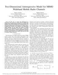 A Two-Dimensional Autoregressive Model for MIMO Wideband ...