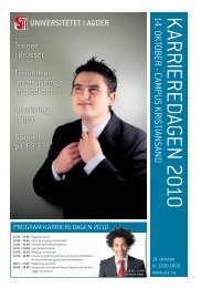 Karrieredag 14. oktober 2010 (avis) - Universitetet i Agder