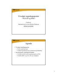 Utvalgte regnskapsposter Agenda
