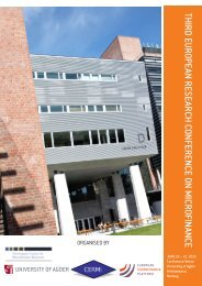 Third European Research Conference on Microfinance